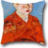 Shoji Square - Oil Painting Sekine Shoji - Boy Pillow Covers 18 X 18 Inches / 45 By 45 Cm Gift Or Decor For Relatives,dining Room,family,bf,adults,family - Double Sides