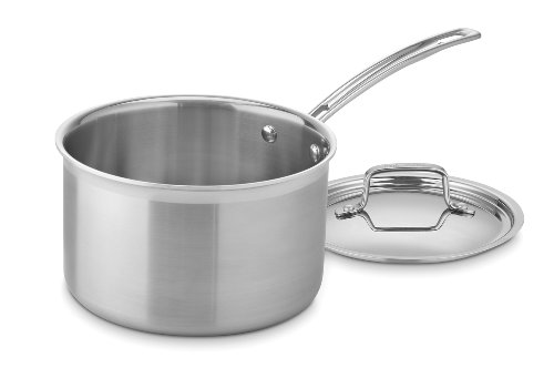 Cuisinart MCP194-20N MultiClad Pro Stainless Steel 4-Quart Saucepan with Cover