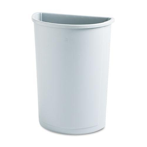 (Rubbermaid Commercial 352000GY Untouchable Waste Container Half-Round Plastic 21gal Gray)