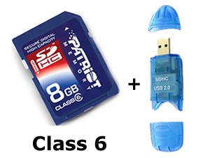 8GB SDHC High Speed Class 6 Memory Card for Canon PowerShot A590 IS Digital Camera - Secure Digital High Capacity 8 G GIG GB 8GIG 8G SD HC + Free ()