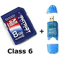 8GB SDHC High Speed Class 6 Memory Card for HP/Compaq iPAQ 211 Enterprise Handheld - Secure Digital High Capacity 8 GB G GIG 8G 8GIG SD HC + Free Card Reader