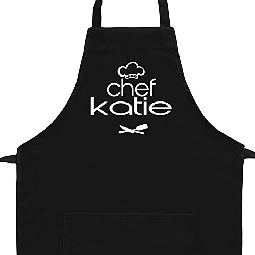 Eddany Apron Chef Katie kitchen utensils Embroidery Custom Aprons - Adult