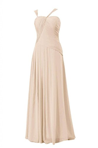 Chiffon Evening Bridesmaid 50 Dress Asymmetric champagne Long Dress DaisyFormals BM124 Long HqgtEYnw