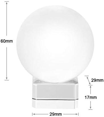 [スポンサー プロダクト]水晶玉 60mm 無色透明 クリア台座付き 宙玉撮影 クリスタルボール レンズボール 撮影 水晶球
