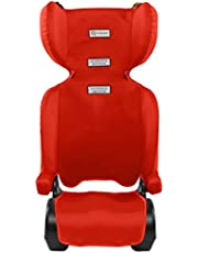 InfaSecure Versatile Folding Booster Car Seat for 4 to 8 Years, Red