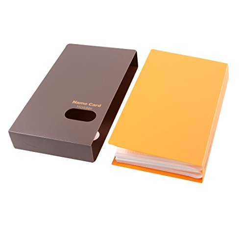 Dimart Hard Cover 40 Sheets 240 Pcs Capacity Name Card Holder Yellow