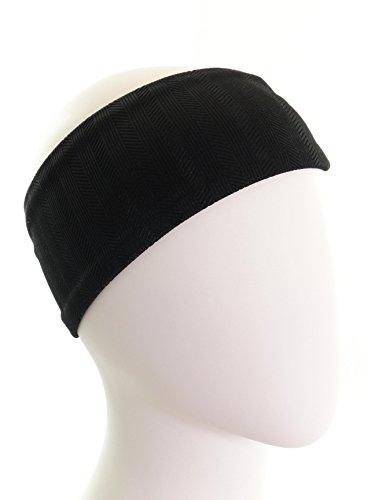 Ice cream INTENSITY Black Textured Fitness Headband: No slip, Antibacterial, Hypoallergenic and Thermo Regulating