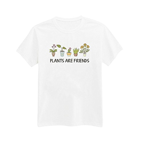 Andre's Designs Unisex Adult's Plants Are Friends - Gardening - Tree - Nature L White