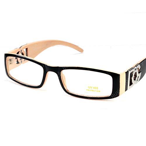 DG Eyewear Clear Lens Glasses Fashion Mens Womens Designer Rectangular Frame RX