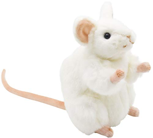 "HANSA White German Mouse Plush Animal Toy, 6"" from HANSA"