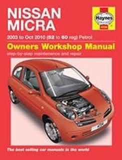 nissan micra 03 oct 10 haynes repair manual amazon co uk anon rh amazon co uk Car Owners Manual Helm Car Manuals