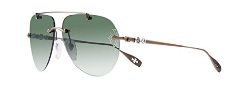 Chrome Hearts - Stains V (63) - Sunglasses (Old Gold, Dark Green G-15 - Sunglasses Hearts Chrome Aviator