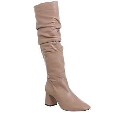 Karaboo Slouch Camel Leather Block Office Boots Knee azAqCAwx