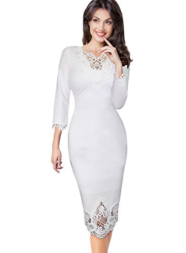 Vfemage Womens Embroidery Elegant Bodycon