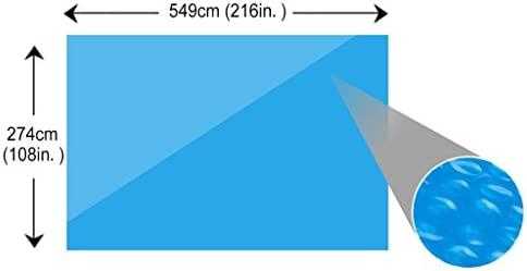 Tidyard Cobertor Piscina Hinchable Cubierta Rectangular de PE de Piscina Azul 549 x 274 cm
