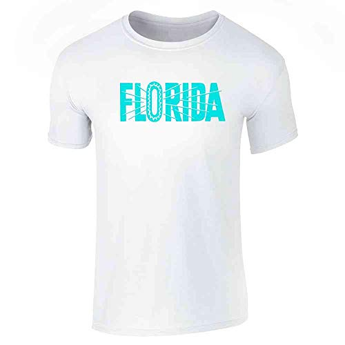 Florida State Retro Vintage Travel White S Short Sleeve ()