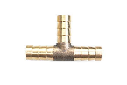 autobahn88 3-Way T-Piece Brass Copper Hose Joiner Tee Connector, OD=6mm (1/4