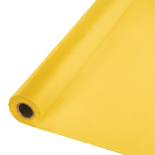 Creative Converting Roll Plastic Table Cover, 100-Feet, School Bus Yellow - 010217