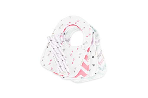 Ultimate Waterproof Baby Bib by Regaroo - Triple Layer with Cotton Front, Waterproof Inner Liner & Plush Minky Dot Back 0 to 18 Months (5 Pack Set) ()
