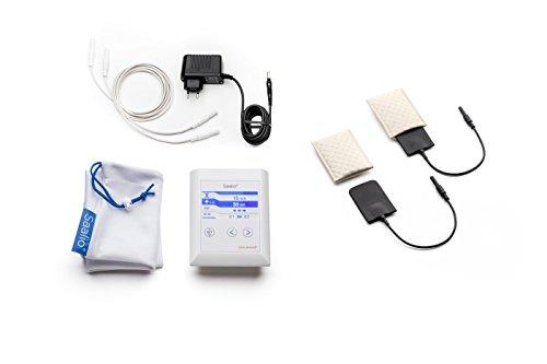 Saalio® AX Set - Iontophoresegerät gegen Achselschweiß, Puls- & Gleichstrom - mit Graphit-/Silikonelektroden (Neuentwicklung 2015, made in Germany, Iontophorese)