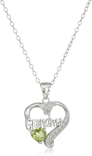 Sterling Grandma Diamond Pendant Necklace product image