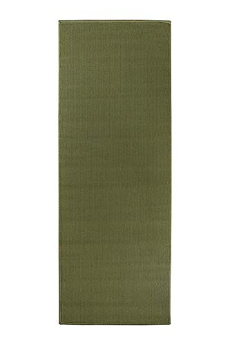 Ritz Accent Door Rug Runner with Non-Slip Latex Backing, 20-Inch by 60-Inch Kitchen & Bathroom Runner Rug, Olive Green - Olive Green Runner Rug