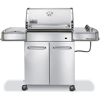 Weber 3780001 Genesis S-320 Propane Gas Grill, Stainless Steel