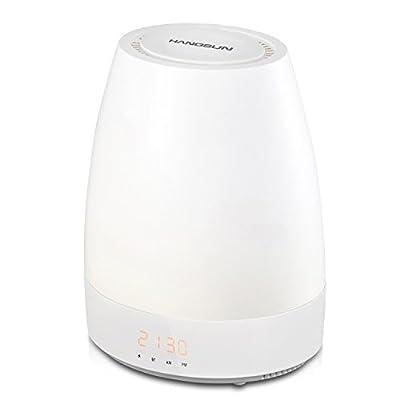 Hangsun Wake Up Light Sunrise Alarm Clock Simulation SL320 Night Light Bedside Table Lamp with 8 Natural Sounds, Dimmable LED Mood Light, Touch Sensor, Bluetooth Speaker, 3 Brightness Levels Control