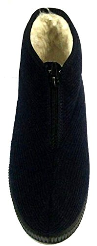DAVEMA ciabatte stivaletti lana da uomo INVERNALI mod. 1367 blu
