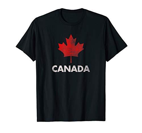 Vintage Retro Canadian Maple Leaf Shirt Canada Flag T-shirt (Canada Maple Leaf Flag)
