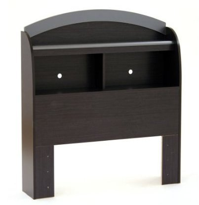 Black Onyx Bookcase (SKB Family Twin-size Bookcase Headboard in Black Onyx Charcoal Finish home storage)
