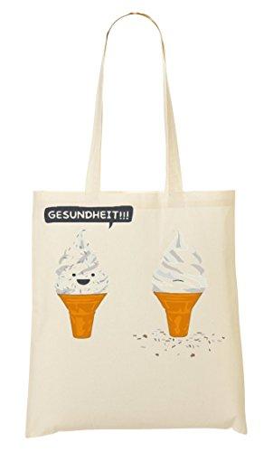 Ice- Cream Talking Shit Handbag Shopping Bag