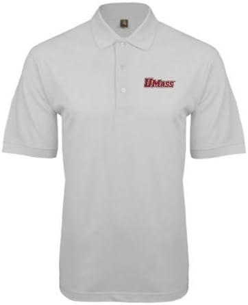 CollegeFanGear UMass Amherst Black Easycare Pique Polo UMass