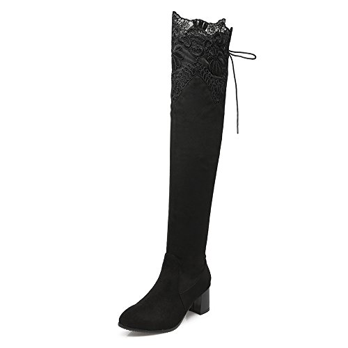 Fashion HeelOver-the-knee Boots - Botas mujer negro