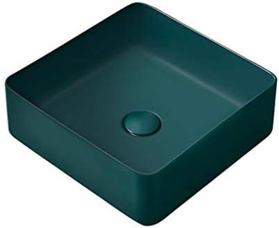 DS- バスルームの洗面台、(タップ無し)マットセラミック上記カウンタ流域緑色バニティ技術流域単一流域、2つのサイズの数 洗面ボール && (Size : 37X37X13cm)
