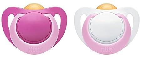 NUK Genius Latex Dummy, Orthodontic Shape, BPA Free, Pack of 2 MAPA GmbH - Baby (VSS) 10172110