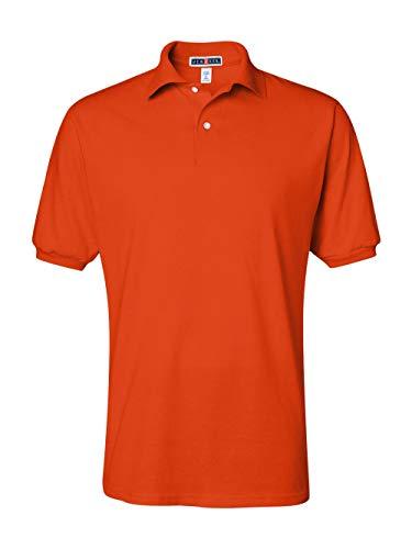 Jerzees Men's Spot Shield Short Sleeve Polo Sport Shirt, Burnt Orange, X-Large