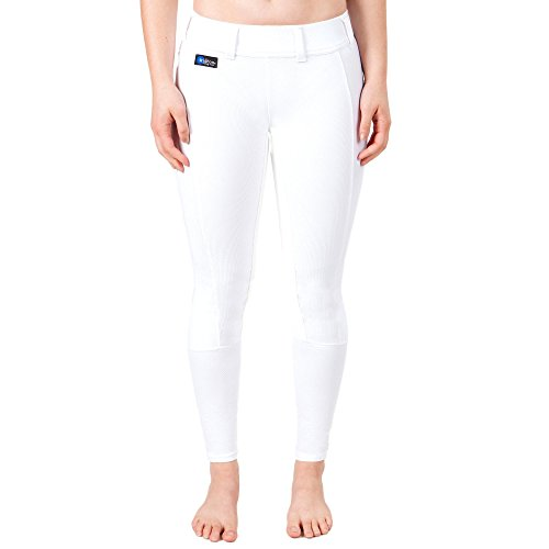 (Irideon Cadence Breeches - Ladies Plus Size Full Seat - Color:White Size:2X)