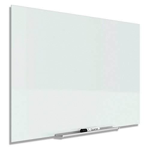 Quartet Glass Dry Erase Board, Whiteboard / White Board, Magnetic, 50'' x 28'', White Surface, Frameless, InvisaMount (G5028IMW) by Quartet