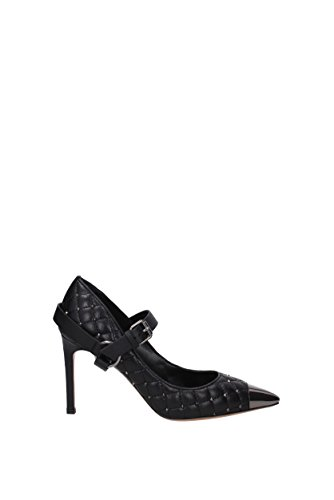 Leather GARAVANI UK Women VALENTINO 0S0E37BWM Pumps Black zwn4pqz1UW