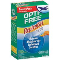 Opti-Free Replenish Travel Pack, Includes Multi-Purpose Disinfecting Solution, Rewetting Drops and Lens Case