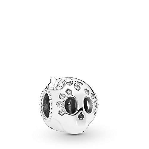 PANDORA Sparkling Skull 925 Sterling Silver Charm - 797866CZ (Charm Chicago Pandora)