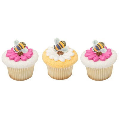 Bumble Bee Edible SugarSoft Cupcake Toppers - 60 (Pooh Bear Honey)