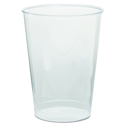 (WNA T7T Comet Plastic Tumbler, 7 oz, Clear, Tall, 25 per Pack (Case of 20 Packs) )