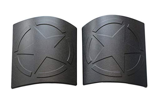WYYINLI Hood Corner Guard Powder Coated Star Cowl Body Armor Cover for Jeep Wrangler Unlimited JK JKU 2007-2018