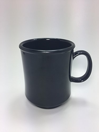 8 Ounce Stacking Mug - Resturant Catering Hotel Coffee Mug (12-Piece) 8oz. Melamine Material Black Perfect for Tea Coffee or any Warm Beverages