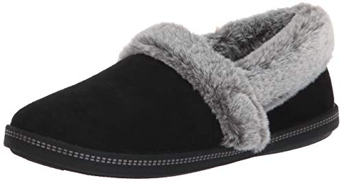 Lining Microfiber Women's Faux with Team Campfire Skechers Cozy Toasty Black Fur Slipper nRvqxFZw