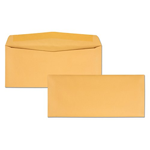 Quality Park, #11 Kraft Envelopes, Gummed, Brown Kraft, 4.5x10.375, 500 per box (11362)
