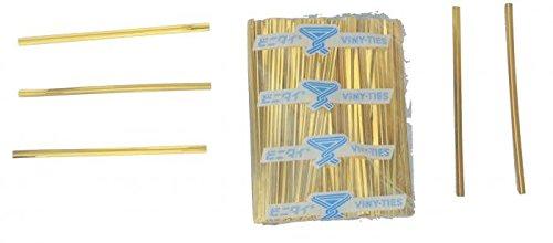 4'' Gold Metallic Ties - 500 Per Bag (26 Bags) - 4-GM by Miller Supply Inc