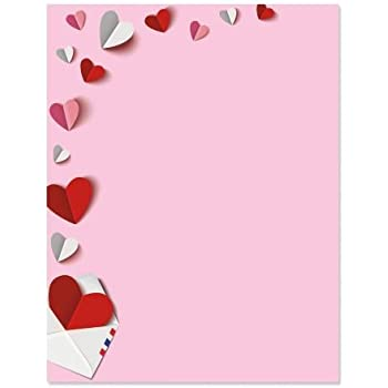 Amazon Com Love Letter Letter Papers Set Of 25 Valentine